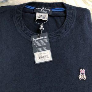 Psycho Bunny Blue XXL crew sweater NWT